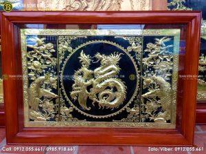 Tranh chữ Phúc hóa rồng bằng đồng