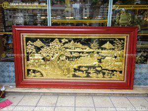Tranh đồng quê mạ vàng có giá dao động từ 13tr đến 120tr