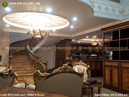 Quang cảnh không gian phòng khách tại nhà của vị khách hàng