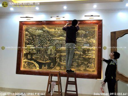 Tranh đồng quê là bức tranh rất đỗi quen thuộc, ai cũng có thể sử dụng để trang trí vào căn nhà của mình
