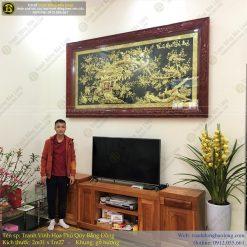 tranh vinh hoa phú quý bằng đồng 2m31 x 1m27